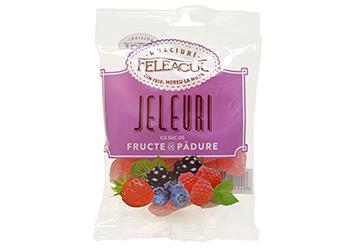 Jeleuri cu suc de fructe de padure